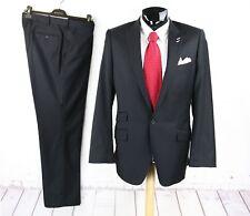 ROYAL PARK & BALL 42L Mens Black 1Btt Jacket Flat Pants Suit 38W Surgical Sleeve