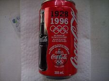 Coca-cola~Vintage ~1928-1996 Olympic Support Soda Pop Can