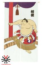 NOREN JAPANESE UKIYOE JAPONAIS RIDEAU MADE IN JAPAN YOKOZUNA SUMO MASTER COOL
