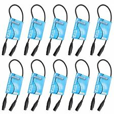 10 pack 2 ft foot feet long 3pin Male to Female XLR shielded DMX data cable cord
