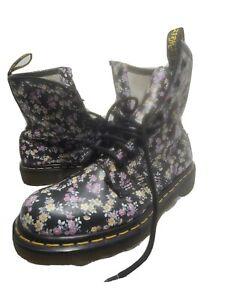Dr DOC MARTENS Air Wair Floral Print Women's 8 Hole Boots US 6 EU 37. Fast 🚢.