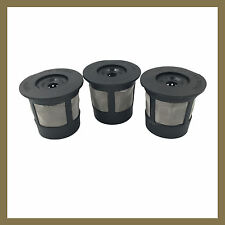 3 Keurig 1.0 Reusable Refillable Single Coffee Replacement K-cup Filter Pod