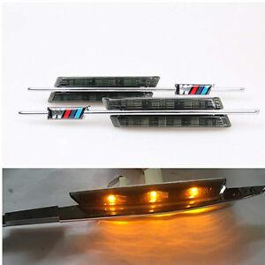 2xFender Side Strip Led For BMW 1/3/5 Series Marker Light Amber Turn Signal Lamp