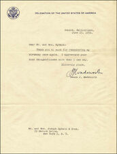 JAMES JEREMIAH WADSWORTH - TYPED LETTER SIGNED 06/15/1959