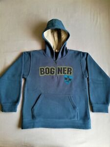 Bogner Kids Blue Hoodie Sweater Polar Jumper Streetwear Winter Ski Snow Sports