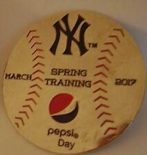 2017 New York Yankees Pepsi Day Spring Training Pin MLB Baseball Tampa Florida