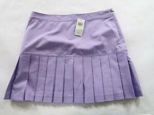 NEW Izod XFG Womens Polyester Cool FX Pastel Purple Ruffled Golf Skirt Size 12