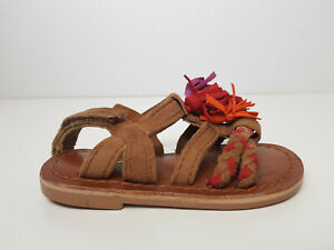 Next Girls Brown Suede Tassel Sandals Toddler UK 5 US 6 EUR 21