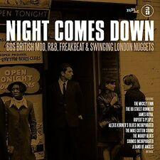 Night Comes Down: 60 British Mod R&B Freakbeat & S - 3 DISC SET  (2017, CD NEUF)