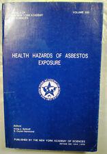 Health Hazards of Asbestos Exposure Irving Selikoff 1979 Mesothelioma Asbestosis