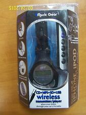 MUSIC GEAR IM513 WIRELESS MP3 FM TRANSMITTER & REMOTE FOR IPHONES IPADS