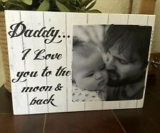 """7x5"""" Personalised Photo & Text Block Fathers Day Dad Grandad Present Gift idea"""