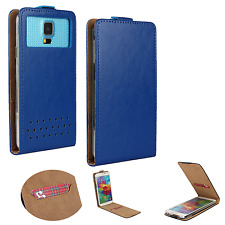 HUAWEI Ideos X3 - Smartphone Hülle Tasche Schutzhülle - Flip XS Blau