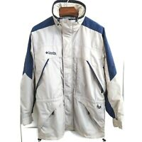 COLUMBIA Mens Medium Full Zip Multi Pocket Water Resistant Windbreaker Jacket