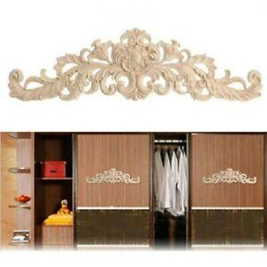 1 X Wooden Mouldings Furniture Applique Onlays Decorative Carvings Unpainted
