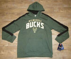 Fanatics Milwaukee Bucks NBA Team Hoodie Jacket Men's size 2XL