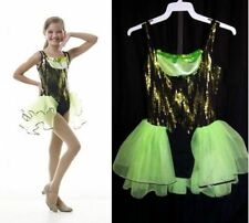Look At Me Dance Costume Jazz Tap Leotard Attached Back Skirt Baton Child Large