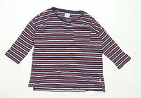 Fat Face Womens Size 10 Striped Cotton Multi-Coloured Long Sleeve T-Shirt (Regul