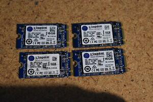 Lot of 4 16GB Kingston M.2 SSD Solid State Drive RBU-SNS4151S3/16GD SATA 2242