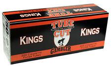 50 (Fifty) Gambler Tube Cut Full Flavor King Size Cigarette Tubes 200ct box