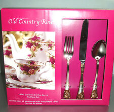 Royal Albert Old Country Roses OCR 65 Piece Stainless Service for 12 New