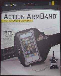 NEW Nite Ize Action Armband Large BLACK Fits most smartphones iPhone 6, Galaxy 6