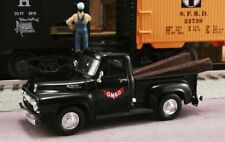 New In Box  GM&O 1/43 1953 Ford F-100  Gulf, Mobile and Ohio RR with RR Ties