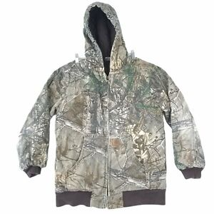 CARHARTT Youth XL 18- 20 RealTree Xtra Camo Coat Heavy Quilted Lined Hooded