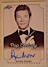 Roger Moore 007 Leaf Pop Century Auto Autograph Signed Card 2016