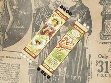 Pair Antique HATPIN NOS card Miniature Doll Salesman Sample bonnet pins 3 1/4 in
