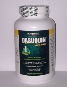 Joint Health for dog Dasuquin MSM Chewable Tablets for Large Dogs ex:8/23 qty 84