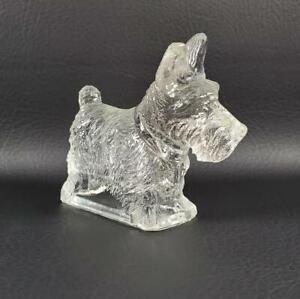Cute Vintage Clear Glass Scottie Dog Figurine Hollow Scottish Terrier Scotty