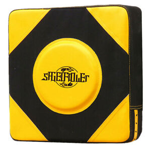 Boxing Karate Pad Punch Wall Pad for Muay Thai Training Black and Yellow L