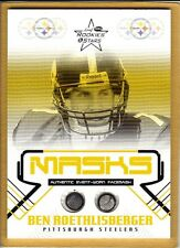 BEN ROETHLISBERGER ( 2004 ) ( ROOKIE ) FACEMASK PIECES CARD STEELERS QB #320/325