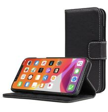 Snugg iPhone 11 Pro Max Wallet Case – Leather Card Case Wallet BLACKEST BLACK