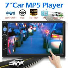7Inch Double 2 DIN Car FM Stereo Radio MP5 Player Touch Screen Bluetooth USB AUX