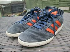 ADIDAS BUSENITZ Shoes Suede Navy Blue + Red/ Orange - Mens Trainers UK SIZE 9