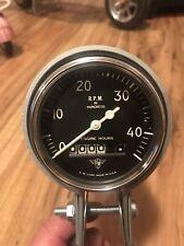 NOS Vintage Stewart Warner WINGS 4500 RPM Tach Gauge Instrument Hotrod SCTA Dash