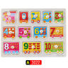 Wooden Peg Puzzles Grab Board Puzzle Toys Children Learning Toys for Kids Baby