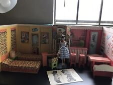 1964 Barbie Goes To College Vintage Travel Case Playset Mattel Dream House