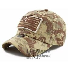 USA Flag Detachable Patch Micro Desert Digital Tactical Cap Hat Military Veteran