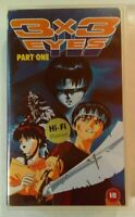 3x3 Eyes Part 1 (Episodes 1 & 2) VHS 1991 Anime OVA 1993 Manga Entertainment