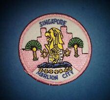 Merlin City Singapore Iron On  Hat Jacket Biker Vest Backpack Travel Patch Crest