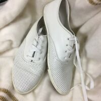 Marc by Marc Jacobs White Perforated Sneakers Size 8 Women