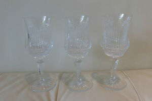Galway Crystal Wine Glasses, Set of 3 Very Rare Pattern