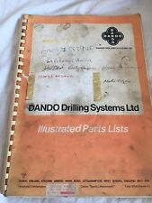 DANDO 220 DRILLING  RIG SPARE PARTS & INSTRUCTION MANUAL TRUCK MOUNTED INC VAT