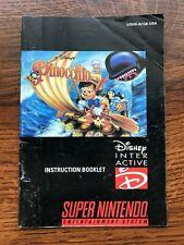 Pinocchio SNES Super Nintendo Instruction Manual Only
