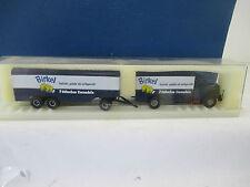 Brekina 1:87 7216  MAN F8 Hauber Koffer-Lastzug - Birkel Nudeln   WS4666