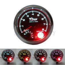 "3.75"" Tacho Tachometer Gauge 0-8000 RPM Rev Meter Chrome Bezel 7 Colors LED 12V"