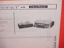 1966 BUICK RIVIERA GS ELECTRA 225 WILDCAT LESABRE AM-FM MPX RADIO SERVICE MANUAL